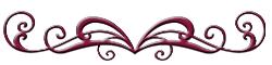 burgundy red divider